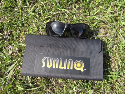 Panneau Global Solar Sunlinq 3 6,5 W replié