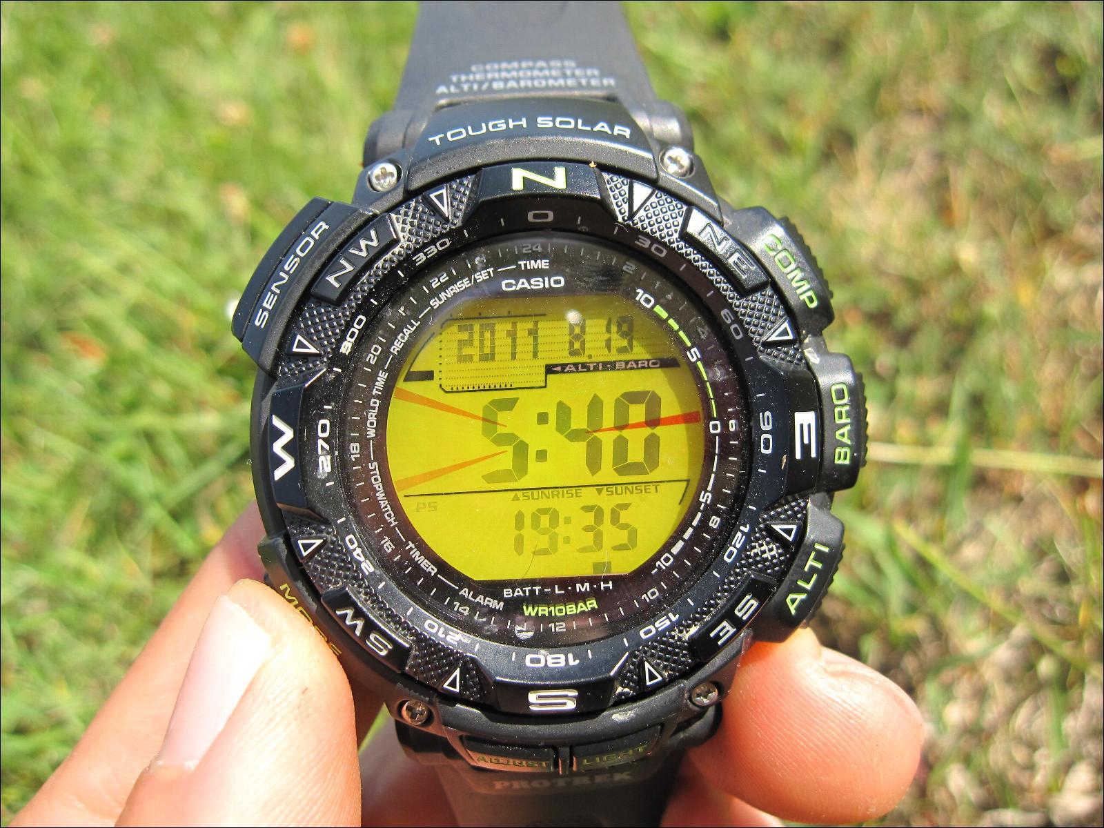 Montre altim tre casio prg 240 1ber - Heure de lever et de coucher du soleil ...