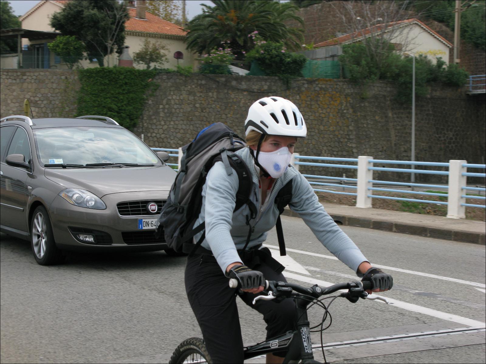 masque respiratoire velo
