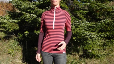 Haut manches longues Patagonia Merino 3 midweight zip neck