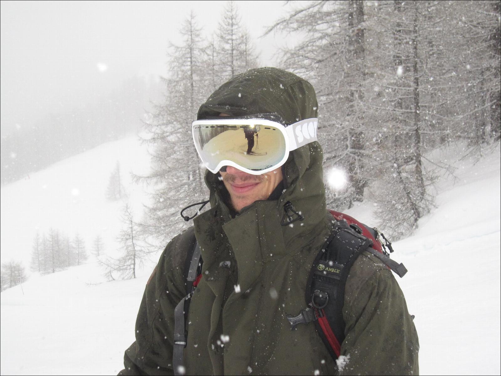 Masque de ski scott off grid white ecran light sensitive for Ecran photochromique