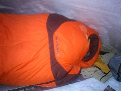 Nuit en igloo dans le Mammut Altitude EXP 3 seasons