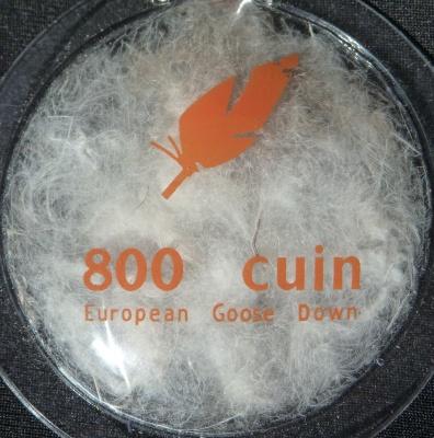 Echantillon de duvet d'oie 800 cuin