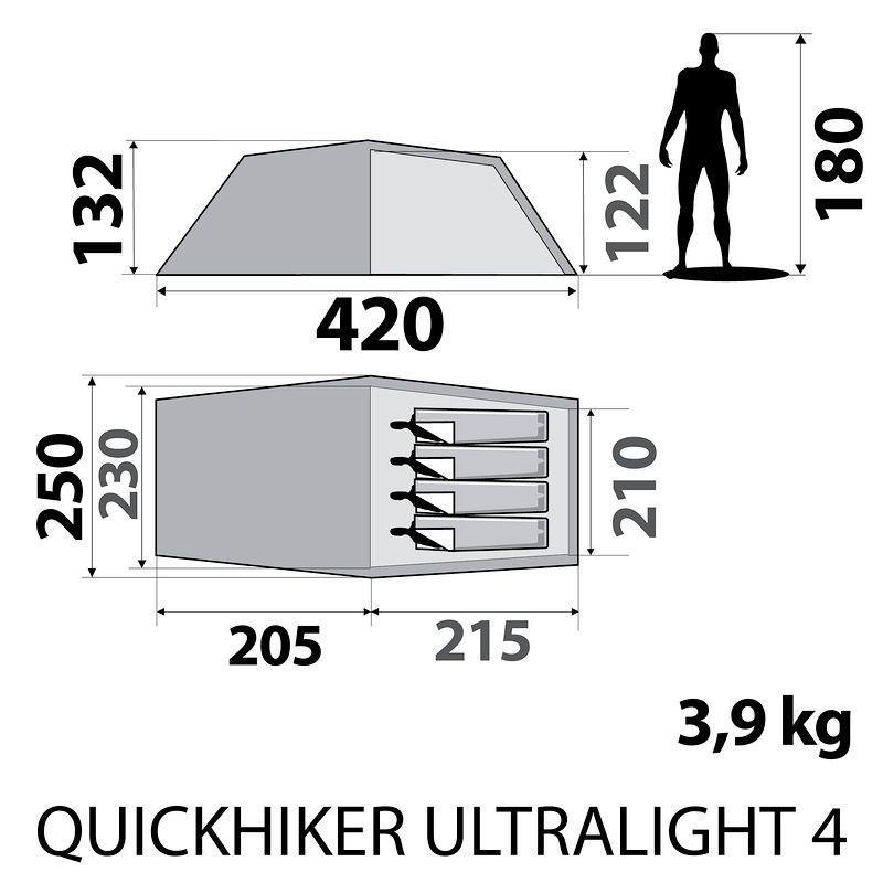 tente quechua quickhiker ultralight 4. Black Bedroom Furniture Sets. Home Design Ideas