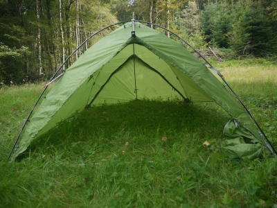 Tente Vaude Mark Travel 3p - En mode tarp