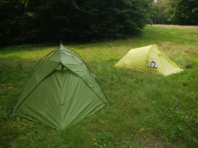 Tente Vaude Mark Travel 3p - montée avec la camp minima 3sl