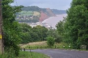 Descente vers Sidmouth.