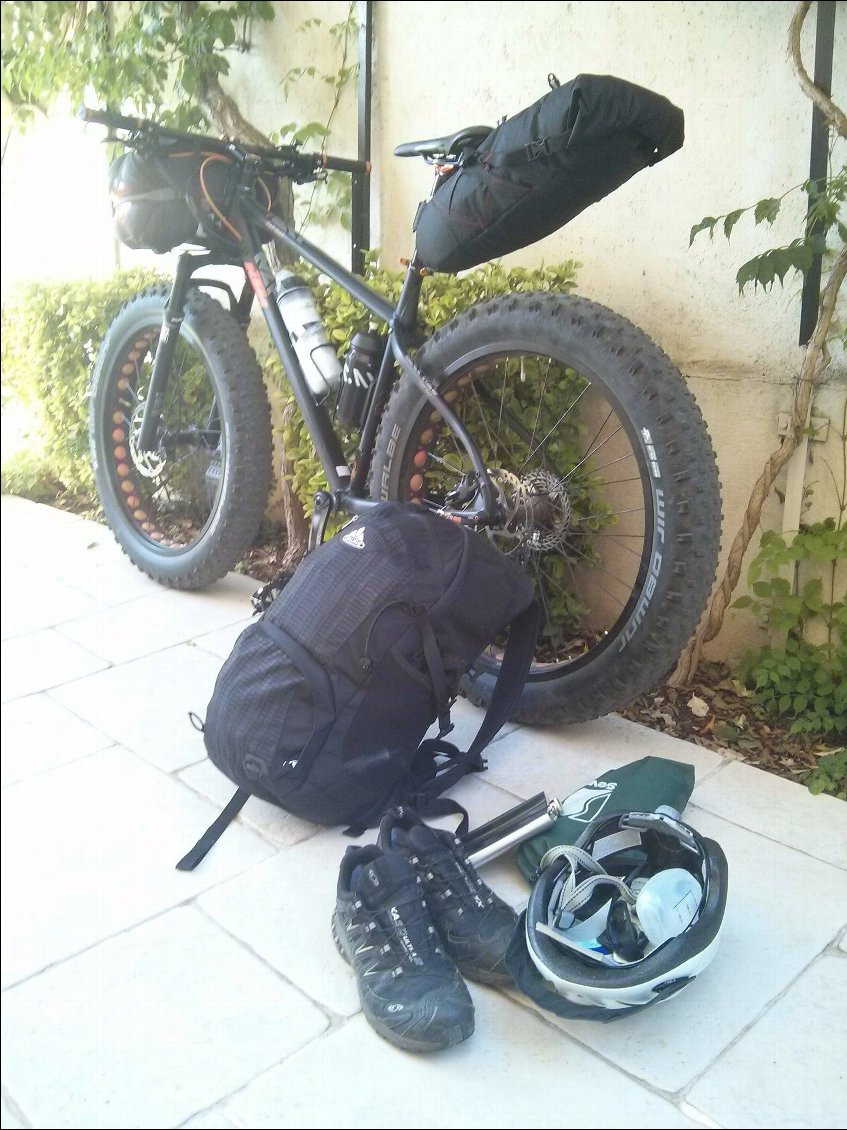 Chargement du Fat bike