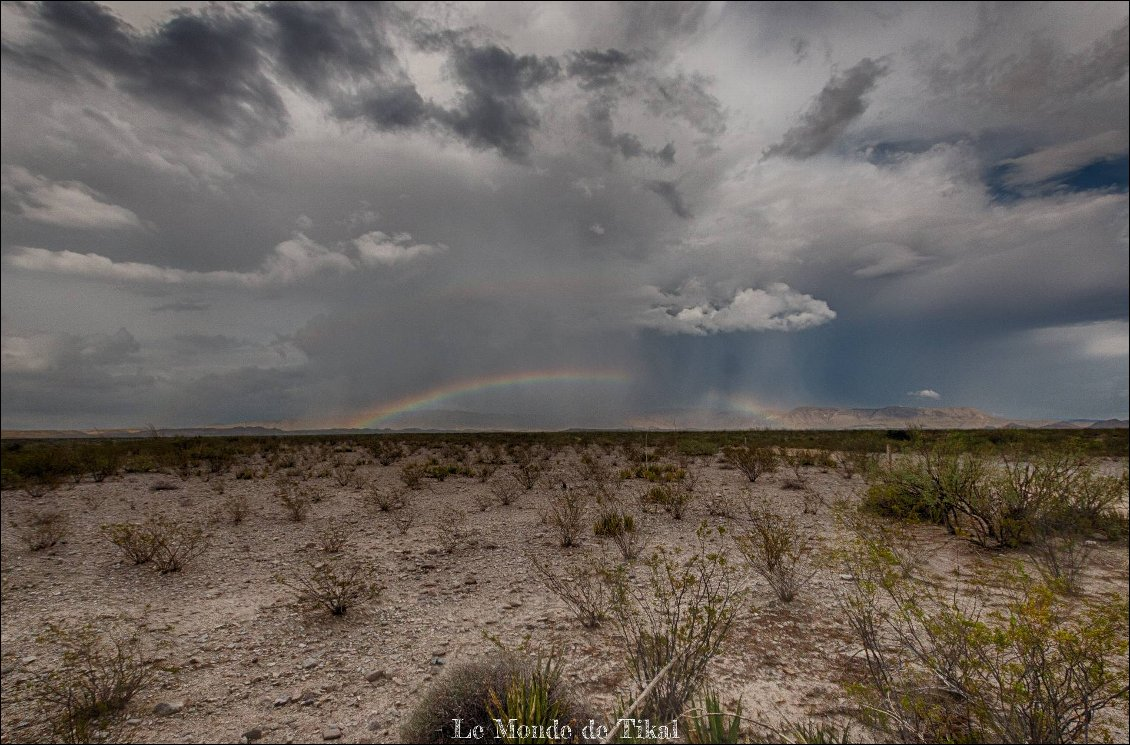 Pendant un orage au parc national Big Bend au Texas. Photo : Dana /  Le Monde de Tikal