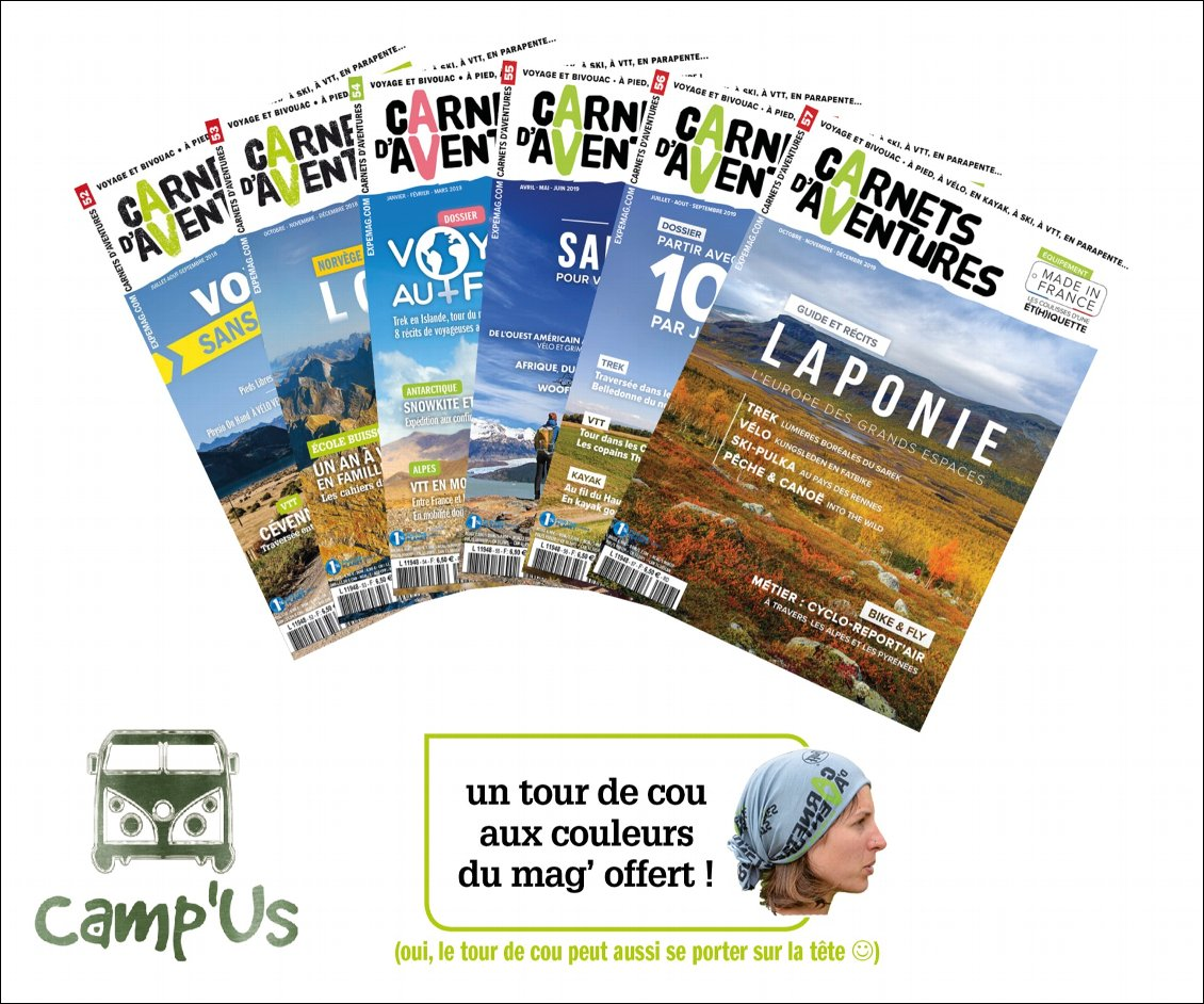 Abonnement 6n° + tour de cou - Camp'Us