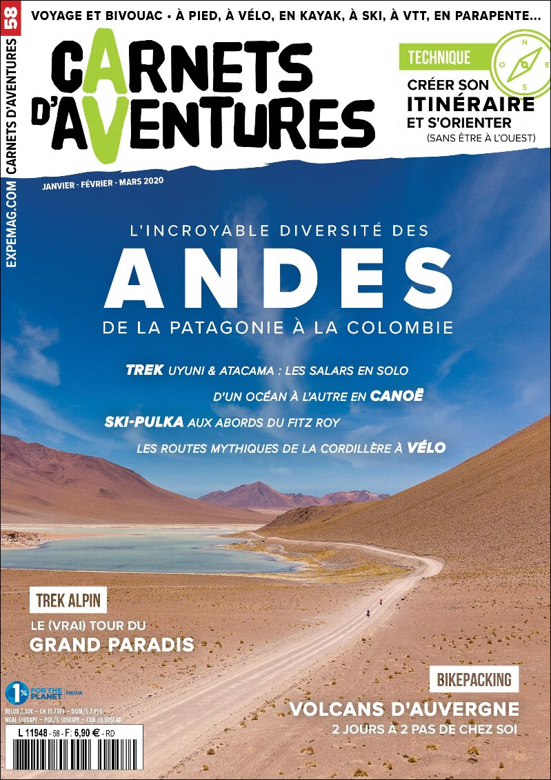 Carnets d'Aventures n°58 : Les Andes